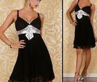 SeXy Miss Damen Glamour Abend Dress Tüll Netz Kleid schwarz silber 34/36/38 Neu