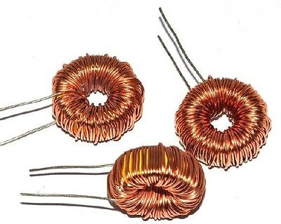 5Pcs Toroid Core Inductor Wire Wind Wound for DIY--220uH 3A