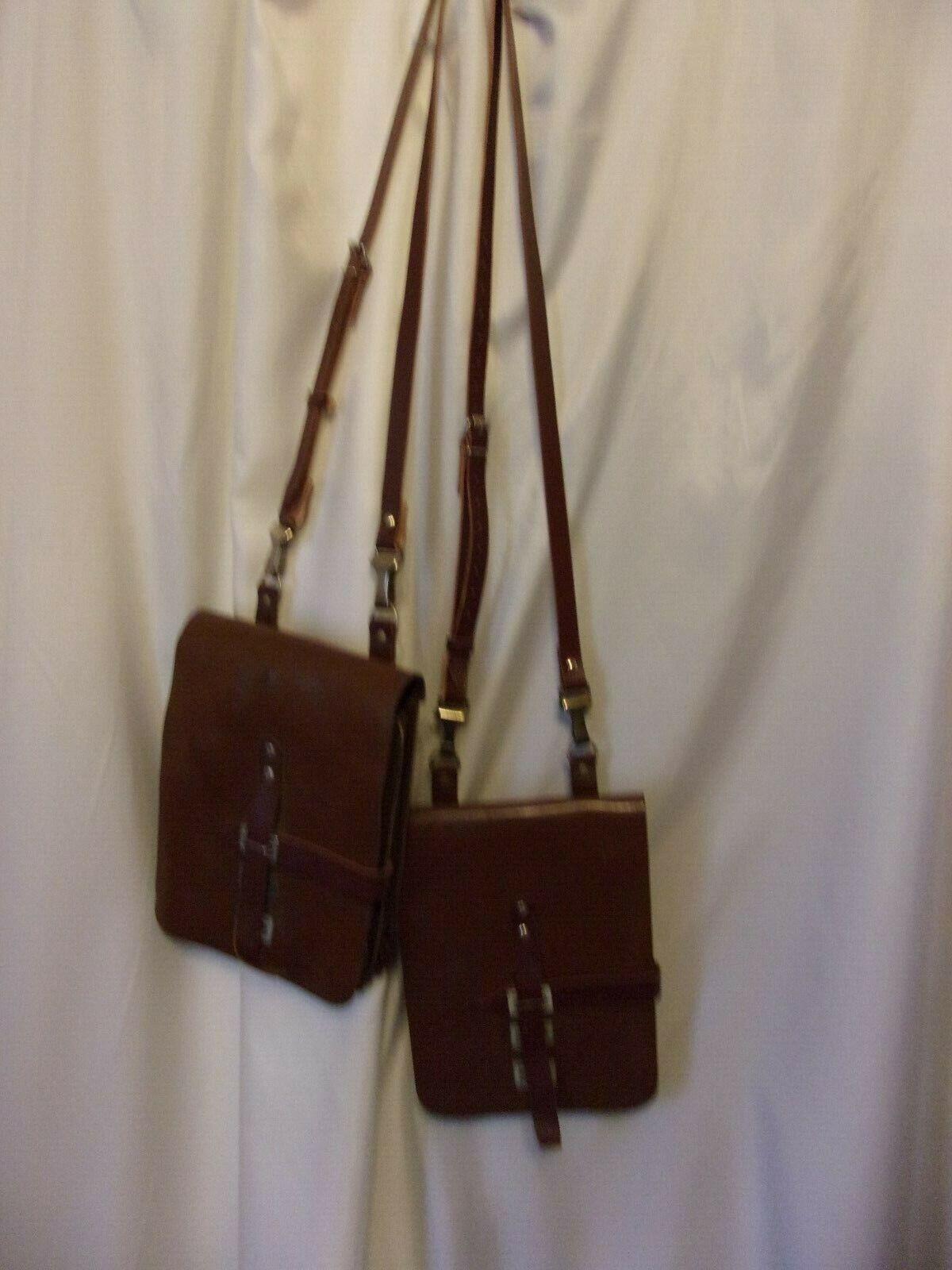 Set of Leather Saddle Bag with Detachable Adjustable Straps