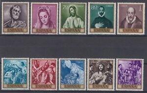 ESPANA-1961-NUEVO-MNH-SPAIN-EDIFIL-1330-39-PINTURAS-EL-GRECO