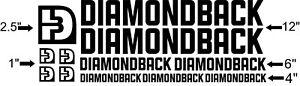 USA Seller! Custom Diamondback bike Frame Decal Set Pick Your Color