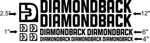 Custom Diamondback bike Frame Decal Set Pick Your Color USA Seller!