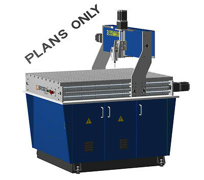 3 Axis CNC Maxi Router Table plans Milling, Drilling and engraver machine