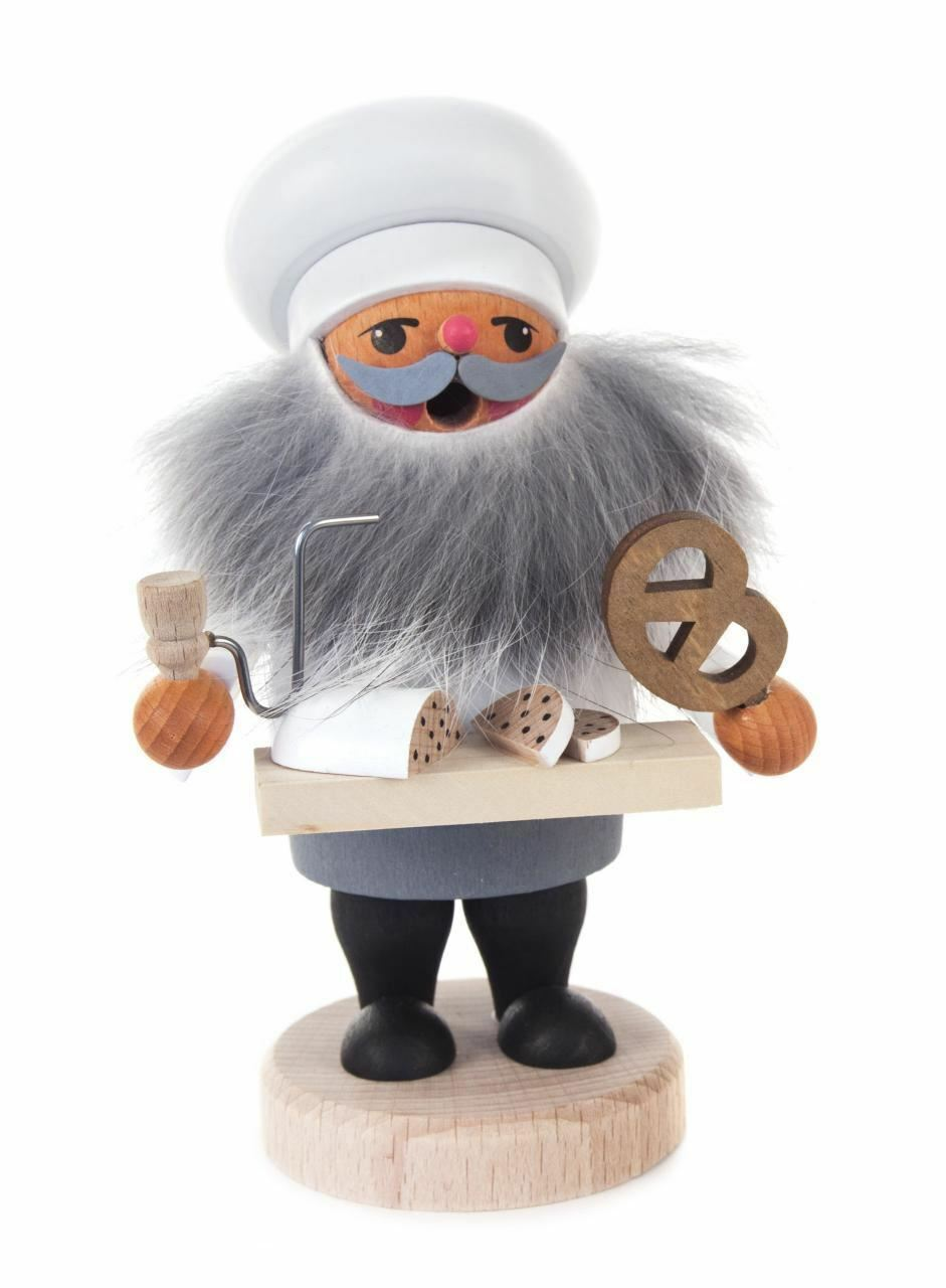 Baker Gnome with Pretzel Incense Smoker - Made in Germany Germany Germany - Raeuchermann d257fb