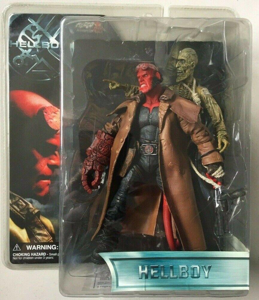 Hellboy con Ivan el cadáver (variante) de largo abrigo de boca abierta serie 1 Mezco 2004