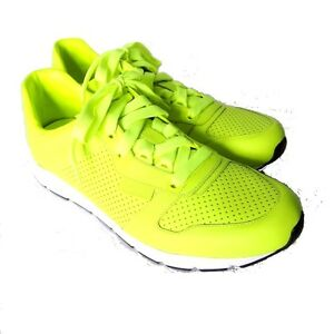 c392aeebbbc S-1037175 New Gucci Neon Lime Green Leather Sneaker Shoe Size US-9 ...