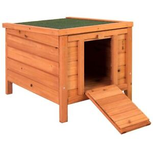 Pet-Rabbit-House-Wooden-Hutch-Animal-Home-Cage-Guinea-Pig-Bunny-Hide-Shelter