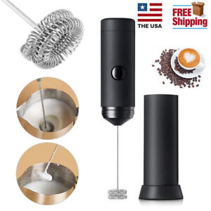 Electric-Milk-Frother-Handheld-Coffee-Egg-Operated-Foam-Maker-Blend-Stirrer-US