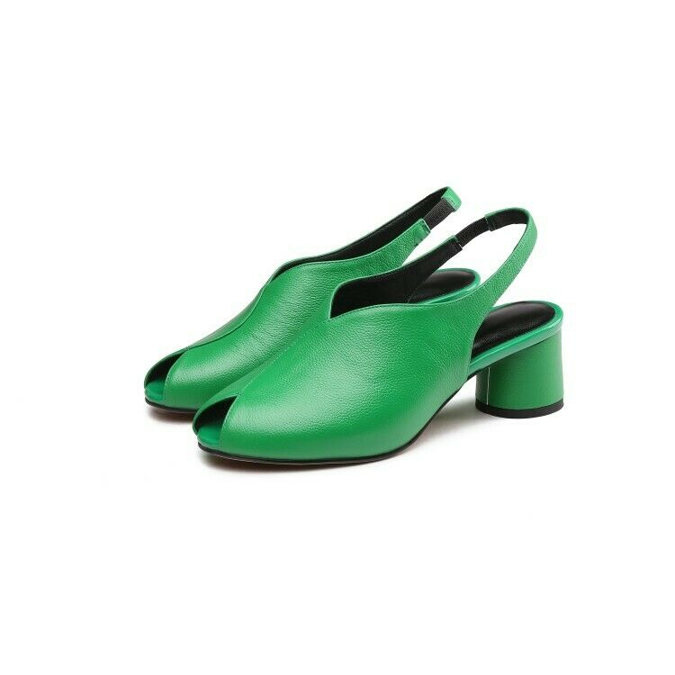 Donna  Cow Leather Peep Toe Slingbacks Sandals scarpe Pumps Pumps Pumps Casual Spring Summer 63bacd