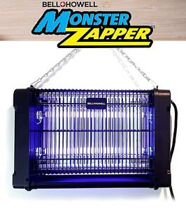 Monster Zapper by Bell + Howell, Powerful Indoor Electric Bug and Fly Zapper NEW
