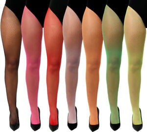 1c666e36865d3 ADULT NEON FISHNET TIGHTS MESH STOCKINGS 80S 90S ACCESSORY FANCY ...