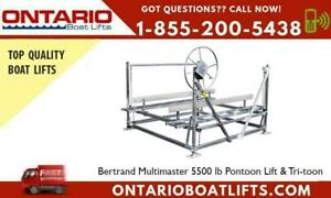 Bertrand Multimaster 5500 lb Pontoon Lift & Tri-toon - Offers Peace of mind and Security to your precious Boat Ontario Preview