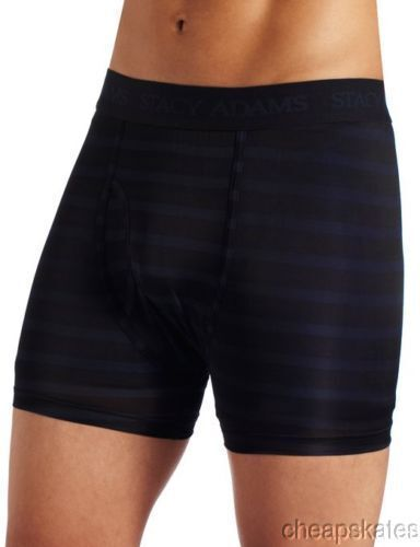 2X 3X 4X Stacy Adams Boxer Brief Shorts Moisture Wicking Underwear Navy//Black