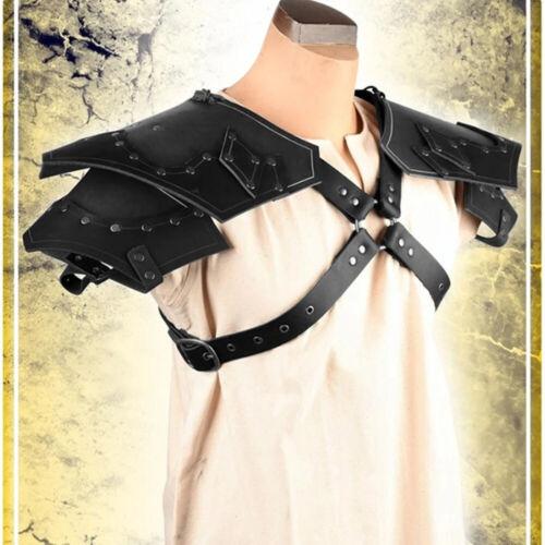 Mens Shoulder Chest Harness Armor Buckles Body Restrain Cosplay Costume Clubwear