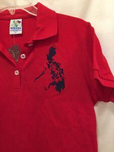 NWT DIBUHO PHILIPPINE Short Sleeve Polo Shirt Womens Size Extra ...