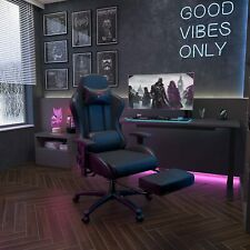 Ergonomic Massage Gaming Racing Chair Computer Office Seat Recliner Footrest