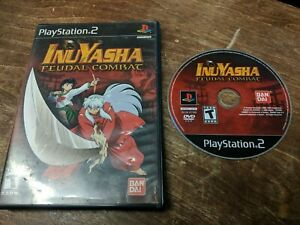 Inuyasha-Feudal-Combat-Sony-PlayStation-2-PS2-US-NTSC-TESTED-WORKS-GOOD
