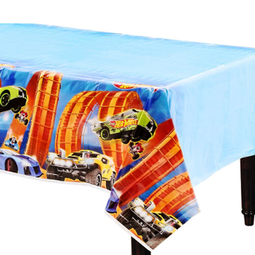 HOT WHEELS Wild Racer PLASTIC TABLE COVER ~ Birthday Party Supplies Decorations