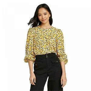 NWT-Who-What-Wear-Women-039-s-Balloon-Long-Sleeve-Blouse-WWT-793