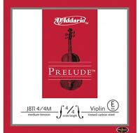 D'addario J811 Prelude Violin 4/4 - Medium Single E String