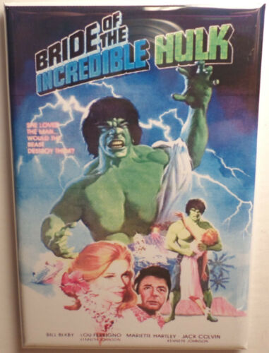 "Bride of the Incredible Hulk Movie Poster MAGNET 2/"" x 3/"" Refrigerator Locker"