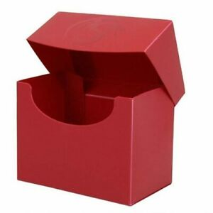 RED Excellent Quality Durable BCW Deck Case Box Side Loading Holds 80 cards