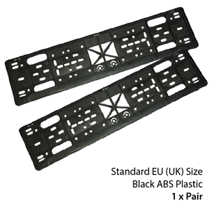 Image is loading Number-Plate-Holder-Pair-of-Car-Truck-Van-  sc 1 st  eBay & Number Plate Holder Pair of Car Truck Van Black Licence Plate ...