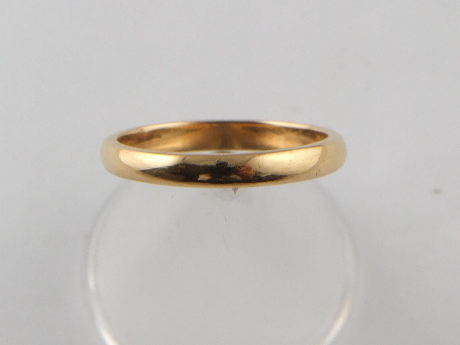 22 Carato 22ct oro Giallo Fede Nuziale anello taglia taglia taglia K 3.1 GRAMMI e9d327