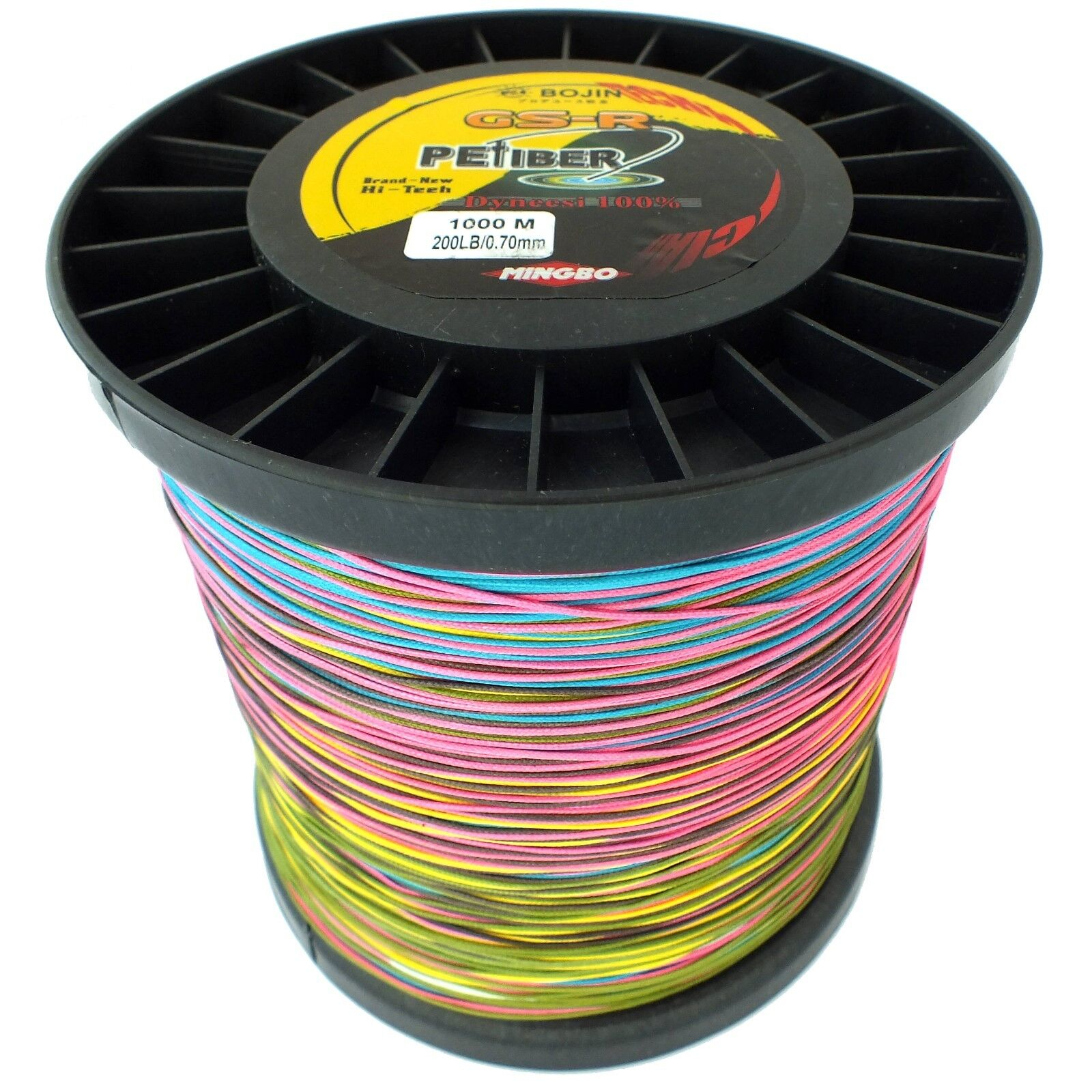 GSR PEFIBER BRAID DYNEESI FISHING LINE 200LB 1000M 5 COLOUR WINCH ELECTRIC REEL