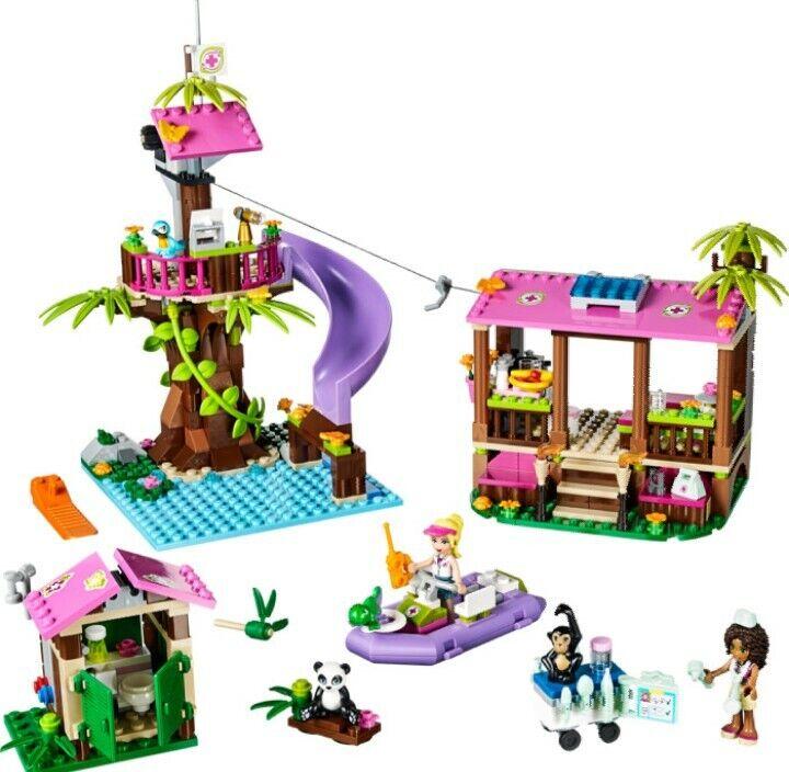 Lego friends jungle rescue, set 41038 good condition, 2 manual, no box