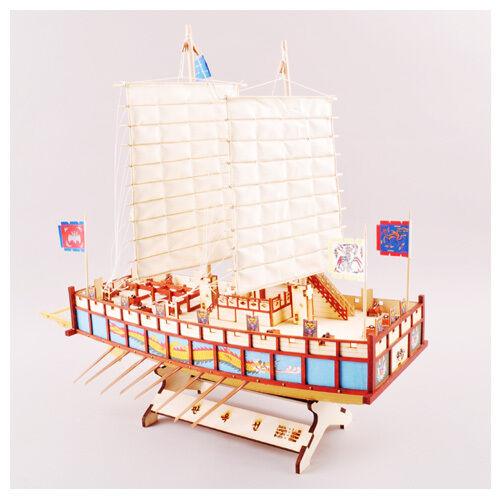 Moving Panok Ship Wooden Model Construction Kit 3D Woodcraft by YongModeler