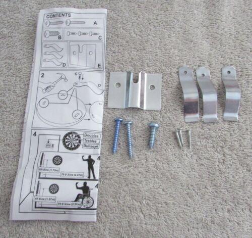 Winmau Dartboard Fixing Kit Fixing Dartboard to Wall