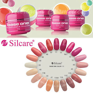 Details about Silcare Base One UV Gel Colour Pastel Nude White Neon Acid  Free Hybrid Manicure
