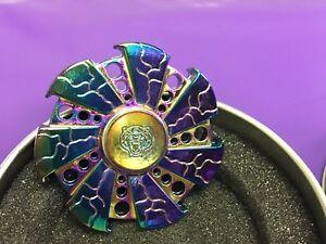 Rainbow-metal-Titanium-Alloy-Hand-Fidget-Spinner-High-Speed-Focus-Toy-RARE