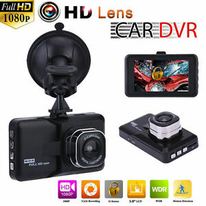 HD 1080P Car DVR Dual Lens Camera Video Recorder Rearview Dash Cam G-sensor New