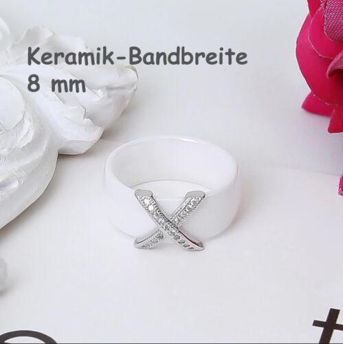 schwarz silber blau Kreuz Edelstahl gold Keramik Ring Bandring weiß