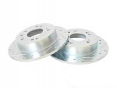 P2M Zinc Coated Slotted Drilled Front Brake Rotors 240SX S13 S14 4 Lug 5 Lug New