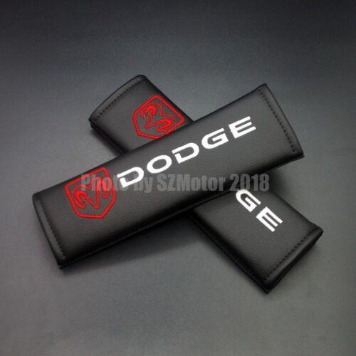 Premium Leather Car Truck Seat Belt Cover Shoulder Pad Fits Dodge RAM Dakota