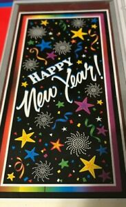 """NEW SEALED """"HAPPY NEW YEAR"""" Door Sign Decoration 30"""" by 60 ..."""