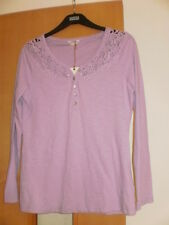 M & S Indigo Pure Cotton T-Shirt Top Size 12 RRP £19.50