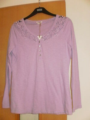 M & S Indigo Pure Cotton T-Shirt Top Size 16 RRP £19.50