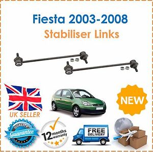 FORD FIESTA MK6 2002-2008 FRONT STABILIZER ANTI ROLL BAR LINKS X 2