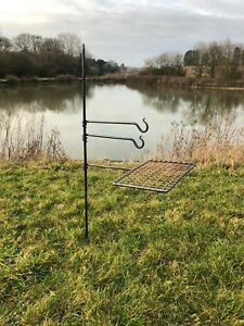 brand new 55f8b e9f8c Details about Large Fire Anchor Cook Stand with mesh arm for Bushcraft /  Camping gear