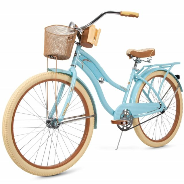 """Huffy 26/"""" Womens Bike with Basket Nel Lusso Perfect Fit Cruiser Bike Mint Yellow"""