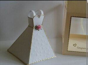 3D WEDDING DRESS KEEPSAKE GIFT PAPER CARD TEMPLATE eBay