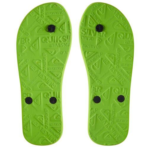 Quiksilver NEW Men/'s Molokai Flip Flops Black Green Black BNWT