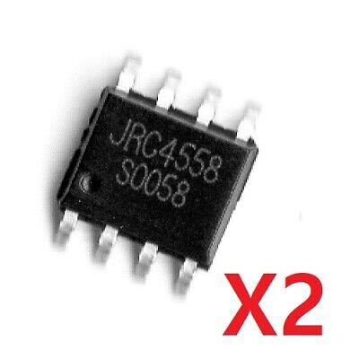 Circuito Integrado JRC4558D NJM4558D DIP 8 5 y 10 Unidades A.O.Dual Lote 2