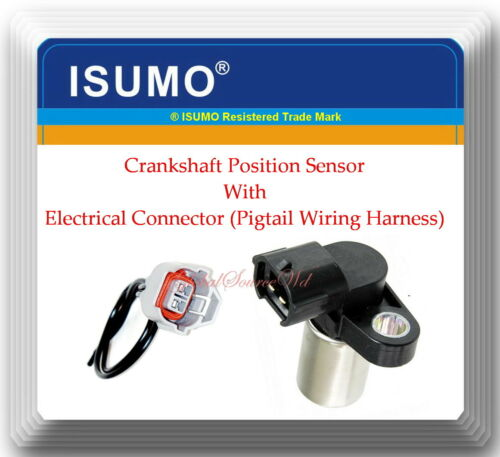 2 Blades Crankshaft Position Sensor W// Electrical Connector Fits:Saab Subaru