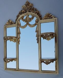 Baroque Wall Mirror Art nouveau with mini Console Mirror