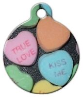 Valentine Candy - Custom Personalized Pet Id Tag For Dog And Cat Collars